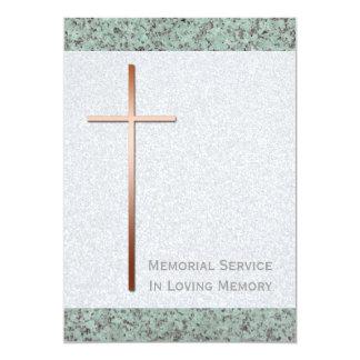 Invitación cruzada de cobre del entierro de la