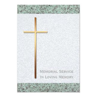 Invitación cruzada de oro del entierro de la