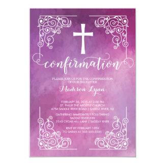 Invitación cruzada moderna de la confirmación de invitación 12,7 x 17,8 cm