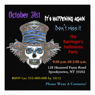 Invitación CUADRADA de Halloween del susto fresco