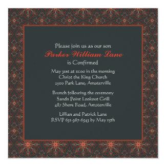 Invitación cuadrada de la confirmación