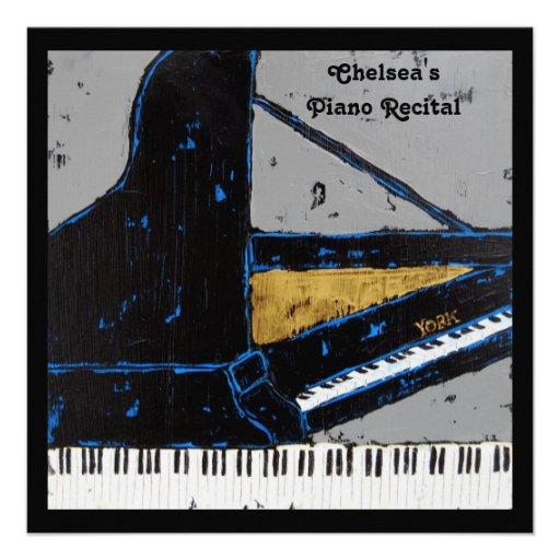 Invitación cuadrada del decreto del piano
