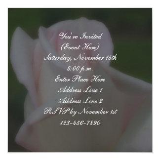 Invitación cuadrada floral del fiesta del capullo