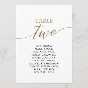 Invitación Cuadro de asientos número 2 de la mesa dorada ele