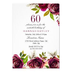Invitaciones Y Papelería Cumpleaños De 60 Años Zazzle Es