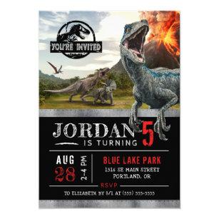 Invitación Cumpleaños Jurásico Del Dinosaurio Del Mundo El