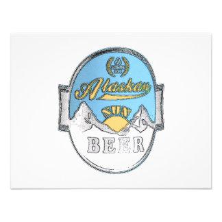 invitación de Alaska de la cerveza del sol