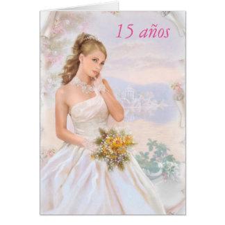 invitación de Años del membrillo de 15 años Tarjetas