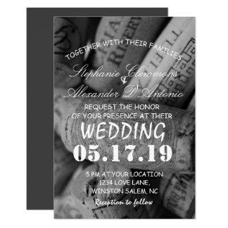 Invitación de boda blanco y negro elegante del