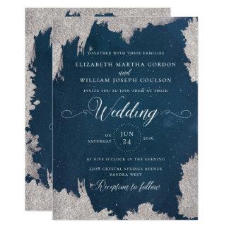 Invitación de boda celestial del invierno de la