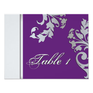 Invitación de boda del número de la tabla -