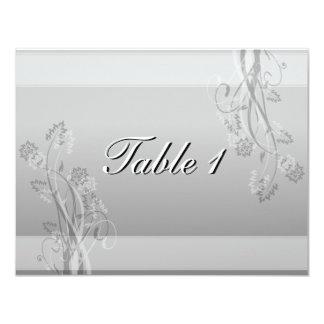 Invitación de boda del número de la tabla - floral