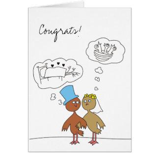 Invitación de boda divertida tarjeta de felicitación