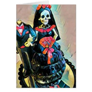 Invitación de boda esquelética gótica del cadáver
