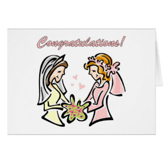 Invitación de boda gay lesbiana en blanco tarjeta de felicitación