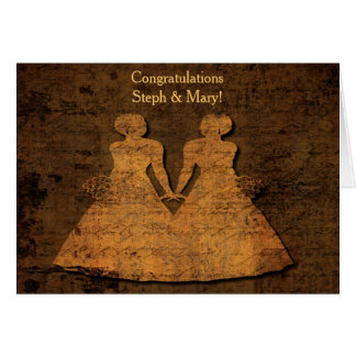 Invitación de boda lesbiana de las novias del amor tarjeta de felicitación
