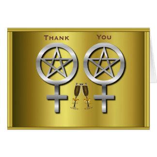 Invitación de boda lesbiana de Wiccan de la tostad Felicitación