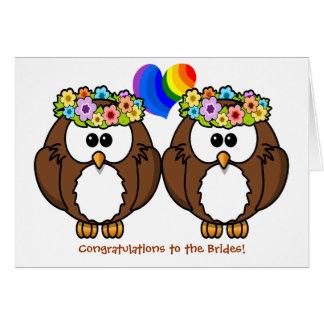 Invitación de boda lesbiana del orgullo de los tarjeta de felicitación