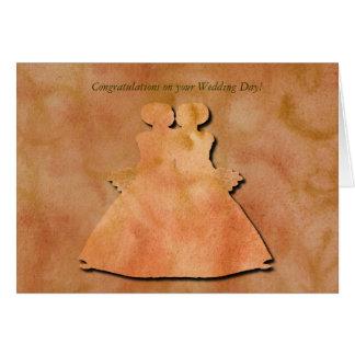 Invitación de boda lesbiana del remolino tarjeta de felicitación