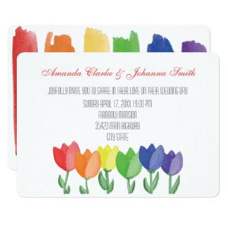 Invitación de boda lesbiana GAY de la FLOR del