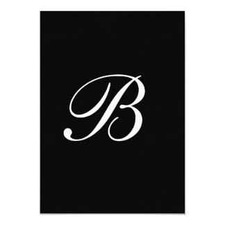Invitación de boda negra blanca del monograma