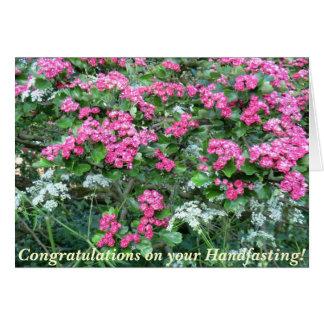Invitación de boda pagana del espino rosado