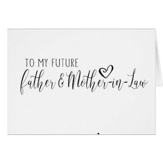 invitación de boda para el padre y la suegra tarjeta de felicitación