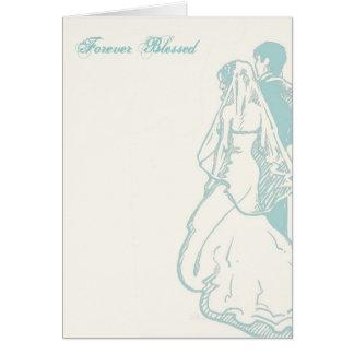 """Invitación de boda """"para siempre bendecida"""" tarjeta de felicitación"""