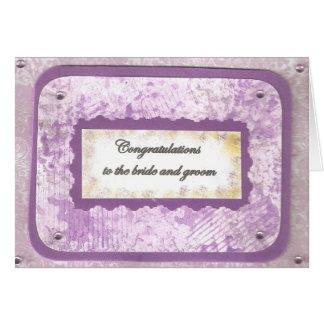 Invitación de boda púrpura tarjeta de felicitación