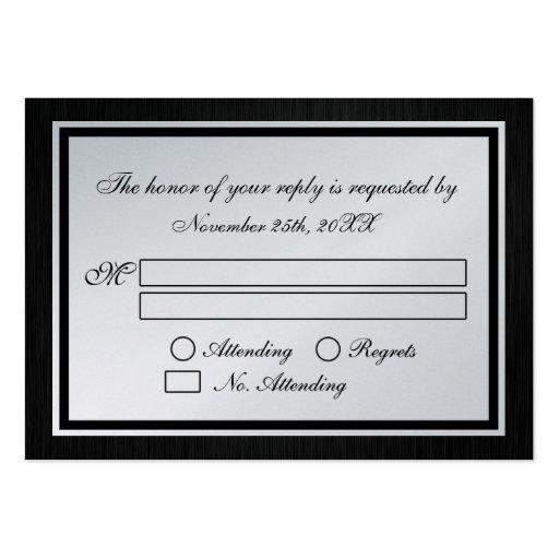 Invitación de boda temática de RSVP del monograma  Tarjetas De Negocios