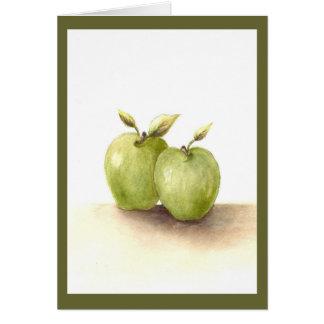 Invitación de boda verde de las manzanas de Lil Tarjeta De Felicitación