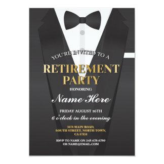 Invitación de Bowtie del fiesta de retiro del