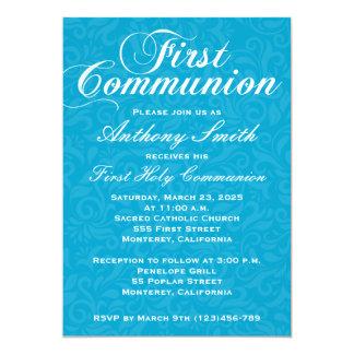 Invitación de Comunion del damasco del muchacho