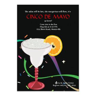 Invitación de cristal del fiesta de Margarita