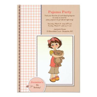 Invitación de Cutie del fiesta de pijama