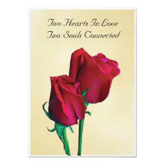 Invitación de dos almas de los corazones dos