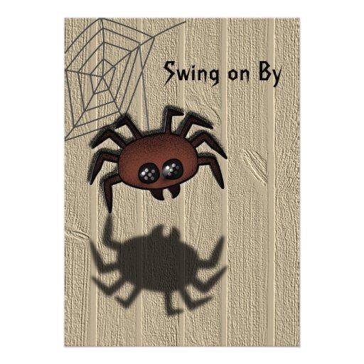 Invitación de encargo de Halloween de la araña de