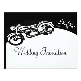 Invitación de encargo del boda de la motocicleta