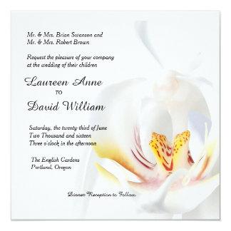 Invitación de encargo del boda de la orquídea