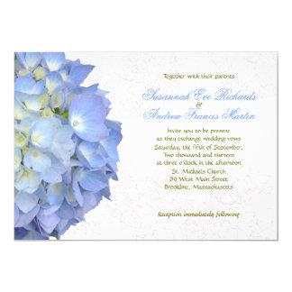 Invitación de encargo del boda del Hydrangea de la
