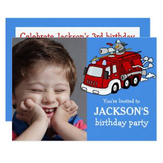 Invitación de encargo del cumpleaños de la foto