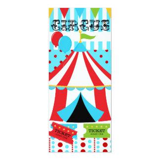 Invitación de encargo del cumpleaños del circo