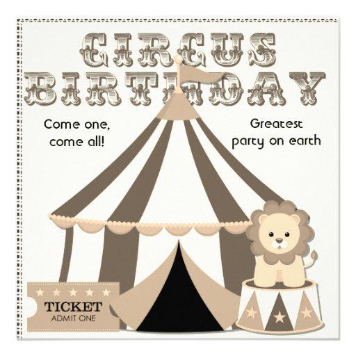 Invitación de encargo del cumpleaños del circo de