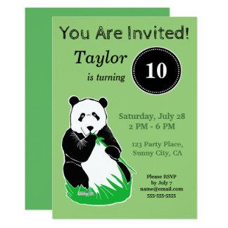 Invitación de encargo del cumpleaños del verde del