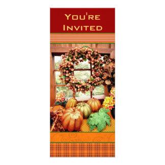 Invitación de encargo del fiesta de cena de Thankg