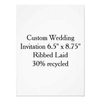 Invitación de encargo del regalo de boda a invitación 16,5 x 22,2 cm
