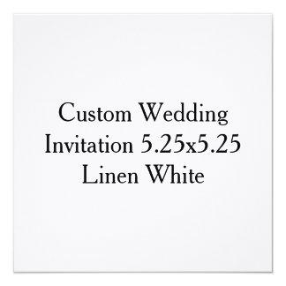 Invitación de encargo del regalo de boda a invitación 13,3 cm x 13,3cm