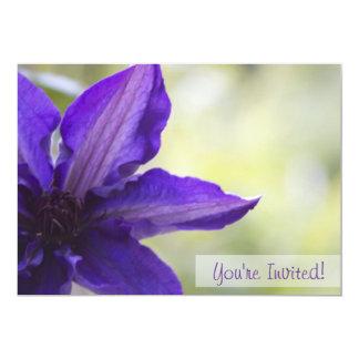 Invitación de encargo floral invitación 12,7 x 17,8 cm