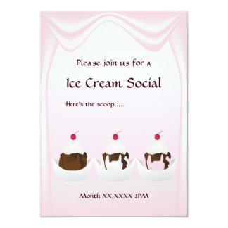 Invitación de encargo social del helado
