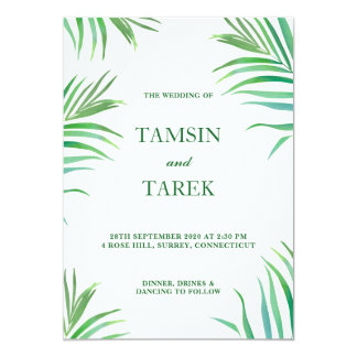 Invitación de encargo tropical 2 de la celebración